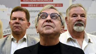 Jean-Pierre Masseret, tête de liste socialiste dans le Grand Est, annonce son maintien au second tour, à Metz, le 7 décembre 2015. (MAXPPP)