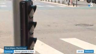 Panne d'électricité dans la ville de Nice. (FRANCEINFO)