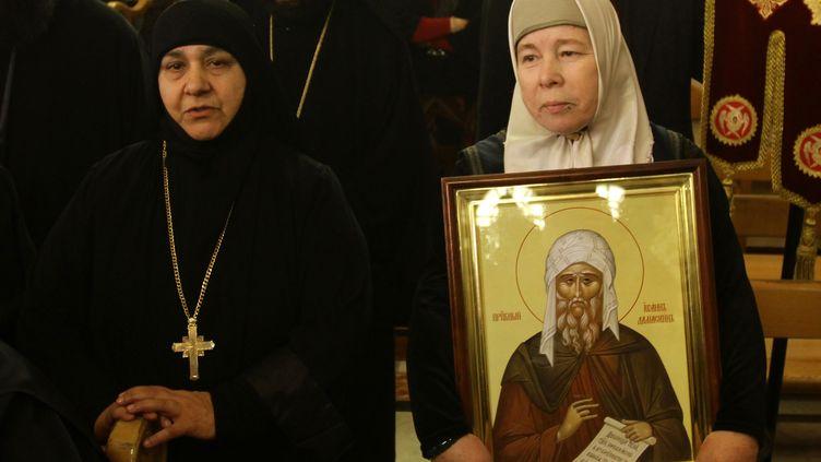 Des chrétiennes à Damas (Syrie) le 10 février 2013 (LOUAI BESHARA / AFP)