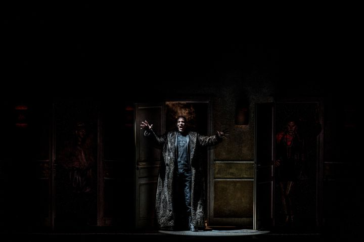 """Répétition de l'opéra """"Le Palais enchanté"""" à l'auditorium de Dijon le 2 décembre 2020. (JEFF PACHOUD / AFP)"""