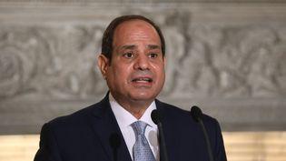 Le président égyptien Abdel Fattah al-Sissi, le 11 novembre 2020. (COSTAS BALTAS / AFP)