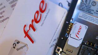 L'offre Free Mobile a été lancée sur le marché le 10 janvier 2012. (LEJEUNE / LE PARISIEN / MAXPPP)