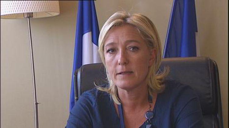 Marine Le Pen n'a pas été convaincue par le premier débat des primaires. (F2)