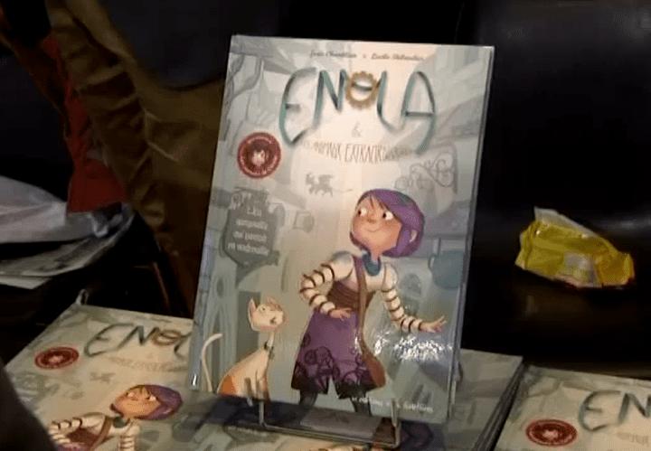 """""""Enola et les animaux extraordinaires"""" sort en librairie le 30 janvier 2015  (France 3 culturebox)"""