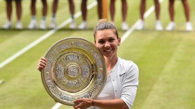 Simona Halep était tenante du titre de Wimbledon après sa victoire de prestigeen juillet 2019 contre Serena Williams. (GLYN KIRK / AFP)