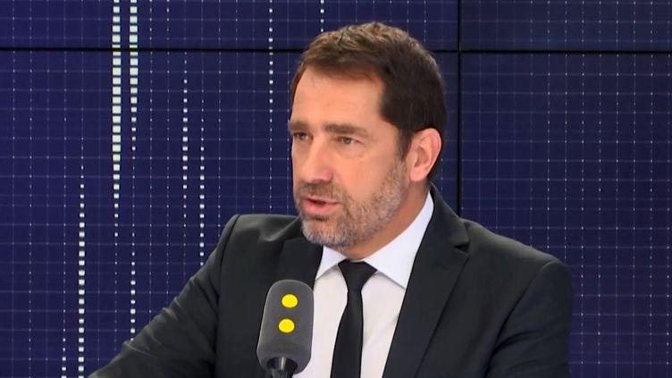 Christophe Castaner,secrétaire d'Etat auprès du Premier ministre, chargé des relations avec le Parlement, était l'invité de franceinfo. (RADIO FRANCE)