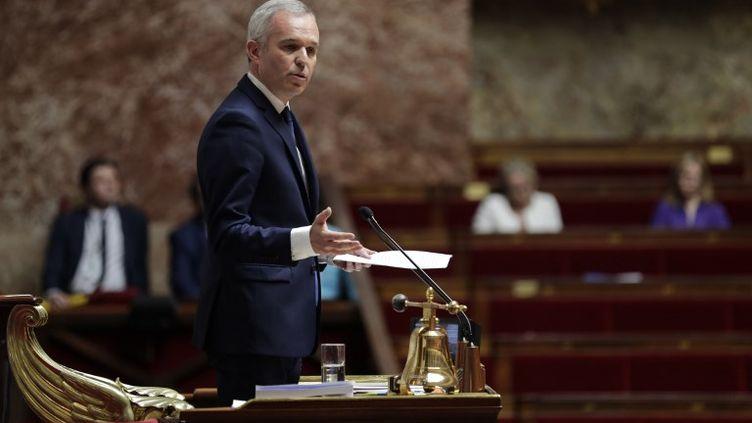 François de Rugy lors de son discours de fin de session parlementaire à l'Assemblée nationale. (THOMAS SAMSON / AFP)
