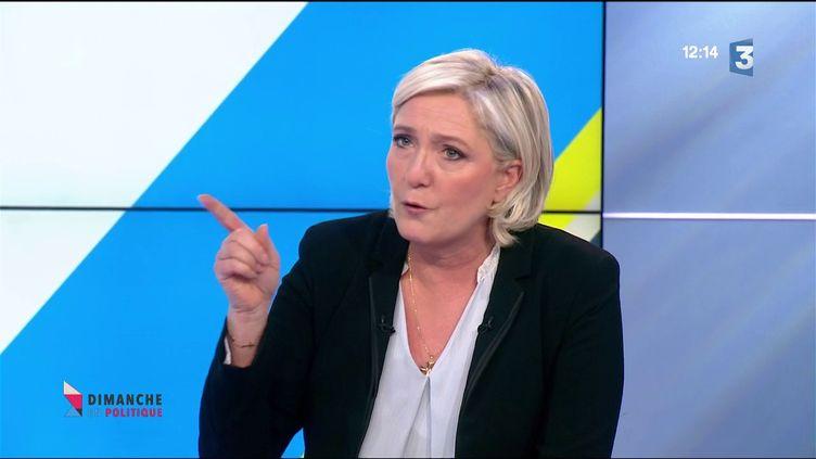 Marine Le Pen (CAPTURE D'ÉCRAN FRANCE 3)