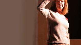 """Florence Giorgetti le 16 mars 2008, dans la pièce """"Voilà"""" de Philippe Minyana, dont elle a signé la mise en scène,à Paris, au théâtre du Rond-Point (MAXIME BEAUFEY / MAXPPP)"""