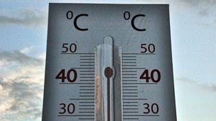 Le thermomètre affiche des valeurs de plus en plus élevées. (MARTIN BERNETTI / AFP)
