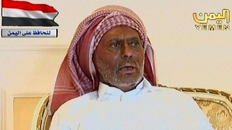 La première apparition du président yéménite, Ali Abdallah Saleh, à la télévision depuis un mois (AFP - YEMEN TV)