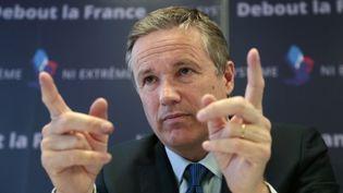Nicolas Dupont-Aignan, président de Debout la France et candidat à l'élection présidentielle (JACQUES DEMARTHON / AFP)