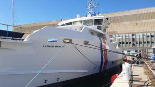 """L'""""Alfred Merlin"""", fleuron de la flotte scientifique française, le 25 juin 2021. (OLIVIER EMOND / RADIO FRANCE)"""