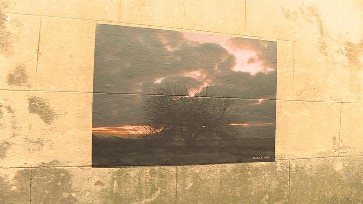 Photo de Patrick Roux exposée dans le village de Pujaut (Gard) (France 3 Occitanie)