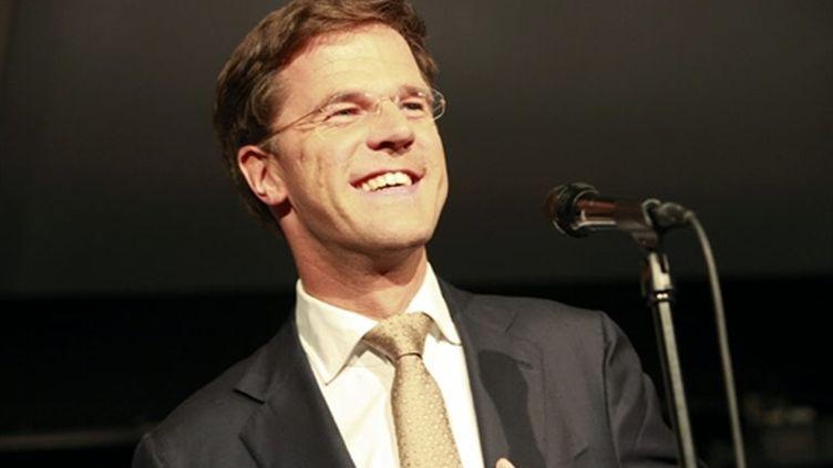 Mark Rutte (VVD) en juin 2010, dont le parti est arrivé en tête, possible futur premier ministre (AFP/ANOEK DE GROOT)