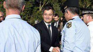 Gérald Darmanin, le ministre de l'Intérieur, le 9 octobre 2021 à Loon-Plage (Nord). (FRANCOIS LO PRESTI / AFP)