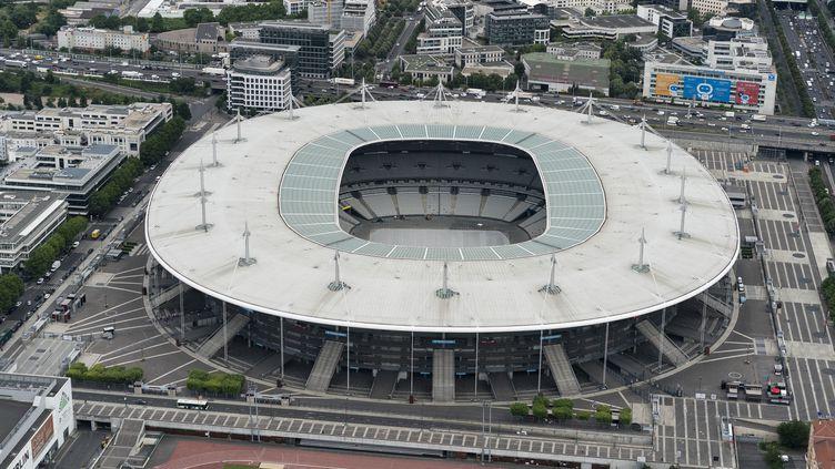 Une vue aérienne du Stade de France à Saint-Denis (Seine-Saint-Denis), le 11 juillet 2019. (KENZO TRIBOUILLARD / AFP)