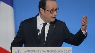 François Hollande à l'Elysee le 21 février 2017 . (MICHEL EULER / AFP)