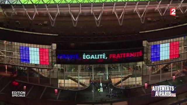 Attentats de Paris : la Marseillaise a résonné dans le stade de Wembley
