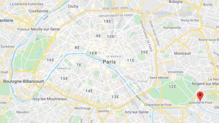 La commune de Joinville-le-Pont dans le Val-de-Marne. (GOOGLE MAPS / FRANCETV INFO)