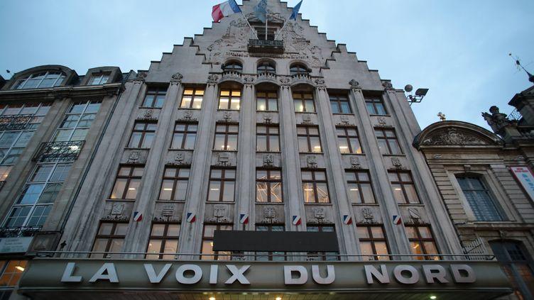 """Le siège du journal """"La Voix du Nord"""", à Lille (Nord), le 10 janvier 2017. (MAXPPP)"""