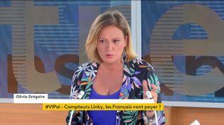 """Olivia Grégoire était l'invitée de """"Votre instant politique"""" sur franceinfo, mardi 1er juin. (FRANCEINFO)"""