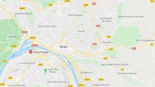 """Lubrizol : une """"enquête de santé"""" lancée auprès de la population (Crédits Photo : Capture Ecran Google Maps)"""