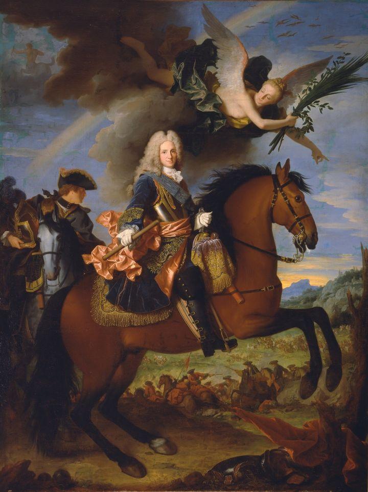 Jean Ranc (Montpellier, 1674 – Madrid 1735), Portrait équestre de Philippe V, roi d'Espagne, vers 1723, huile sur toile, 335 x 270 cm (Museo Nacional del Prado, Dist. RMN-GP / image du Prado)