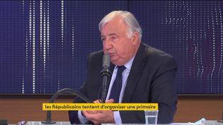 Gérard Larcher, président LR du Sénat, était l'invité du 8h30 franceinfo le 21 juillet 2021. (FRANCEINFO / RADIOFRANCE)