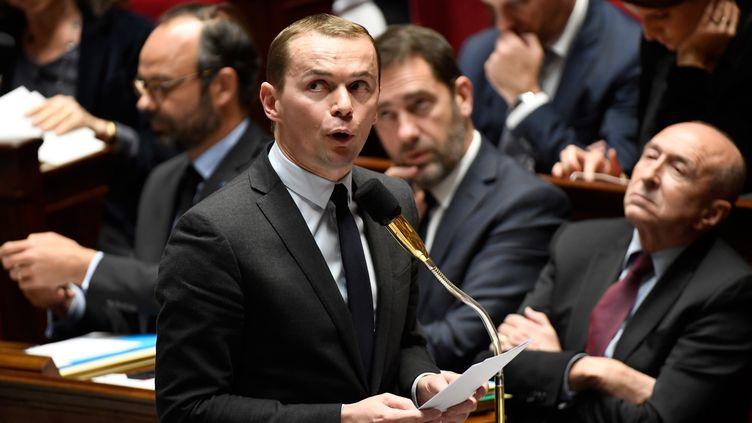 Olivier Dussopt, secrétaire d'Etat auprès du ministre de l'Action et des Comptes publics, est en première ligne dans le dossier de la réforme de la fonction publique. (BERTRAND GUAY / AFP)