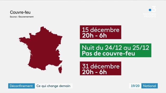 Déconfinement : le point sur le couvre-feu applicable dès le 15 décembre