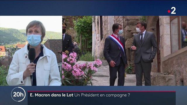 Emmanuel Macron : le président en campagne dans le Lot