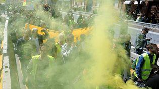 """Des """"gilets jaunes"""" manifestent le 30 mars 2019 à Toulouse. (MAXPPP)"""