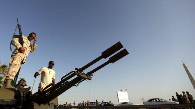 Rebelles libyens à Benghazi (6 juillet 2011) (AFP / Patrick Baz)