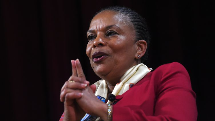 Christiane Taubira,à New York (Etats-Unis), le 29 janvier 2016. (JEWEL SAMAD / AFP)