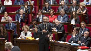 Le Premier ministre Edouard Philippe répond aux questions des députés, le 5 juillet 2017, dans l'hémicycle. (MAXPPP)