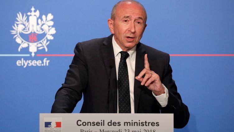Le ministre de l'Intérieur Gérard Collomb, le 23 mai à Paris (LUDOVIC MARIN / AFP)