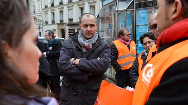 Le nouveau secrétaire général de la CFDT, Laurent Berger, le 30 novembre 2012 à Paris. (MIGUEL MEDINA / AFP)