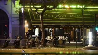 La façade du Bataclan Café, situé à côté de la salle de concert parisienne visée par des attaques le 13 novembre 2015. (MAXPPP)