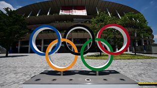 Le stade olympique de Tokyo, qui va accueillir les cérémonies d'ouverture et de fermeture des JO 2021. (PHILIP FONG / AFP)