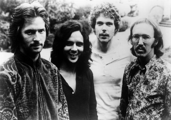 Derek and the Dominos en 1970. De gauche à droite : Eric Clapton (chant et guitare),Bobby Whitlock (chant et claviers), Jim Gordon (batterie) et Carl Radle (basse). (MICHAEL OCHS ARCHIVES / MICHAEL OCHS ARCHIVES)