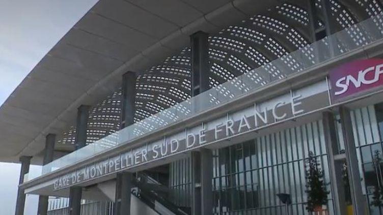 La gare sud de France n'est desservie que par 8 trains par jour. Pourtant, elle a coûté près de 140 millions d'euros. (FRANCE 3)