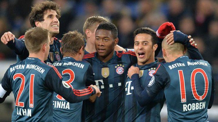 Les Munichois n'ont pas fait de détails sur la pelouse d'Hambourg. (CARMEN JASPERSEN / AFP)