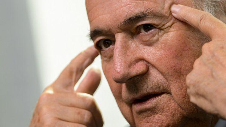 Joseph Blatter, au 61e congrès de la FIFA à Zurich. (FABRICE COFFRINI / AFP)