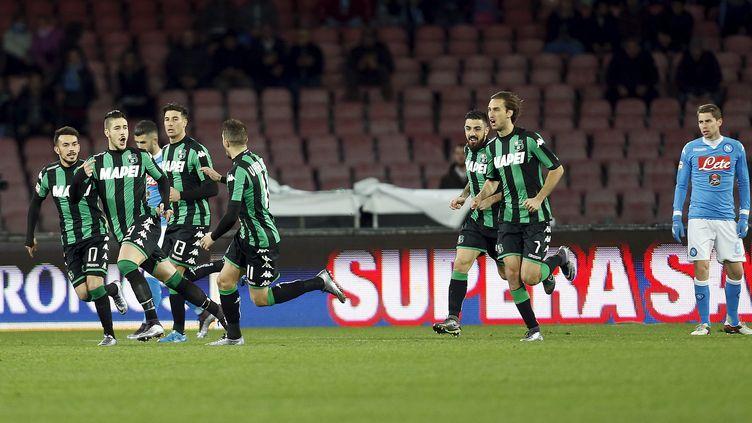 Les Italiens de Sassuolo, novices en Coupes d'Europe. (? CIRO LUCA / REUTERS / X03151)