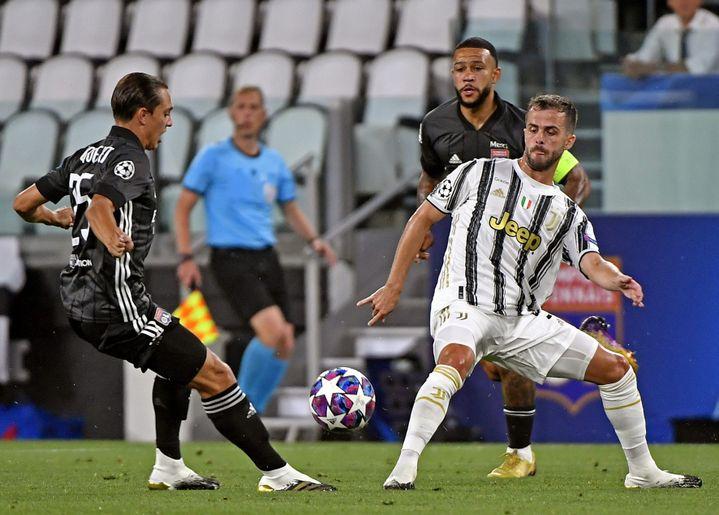 Caqueret est le Lyonnais qui a récupéré le plus de ballons contre la Juventus (ST?PHANE GUIOCHON / MAXPPP)