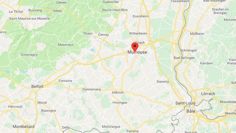 Un policier a été grièvement blessé à Mulhouse après avoir été renversé par une mini-moto en marge de la manifestation des lycéens. (GOOGLE MAPS)