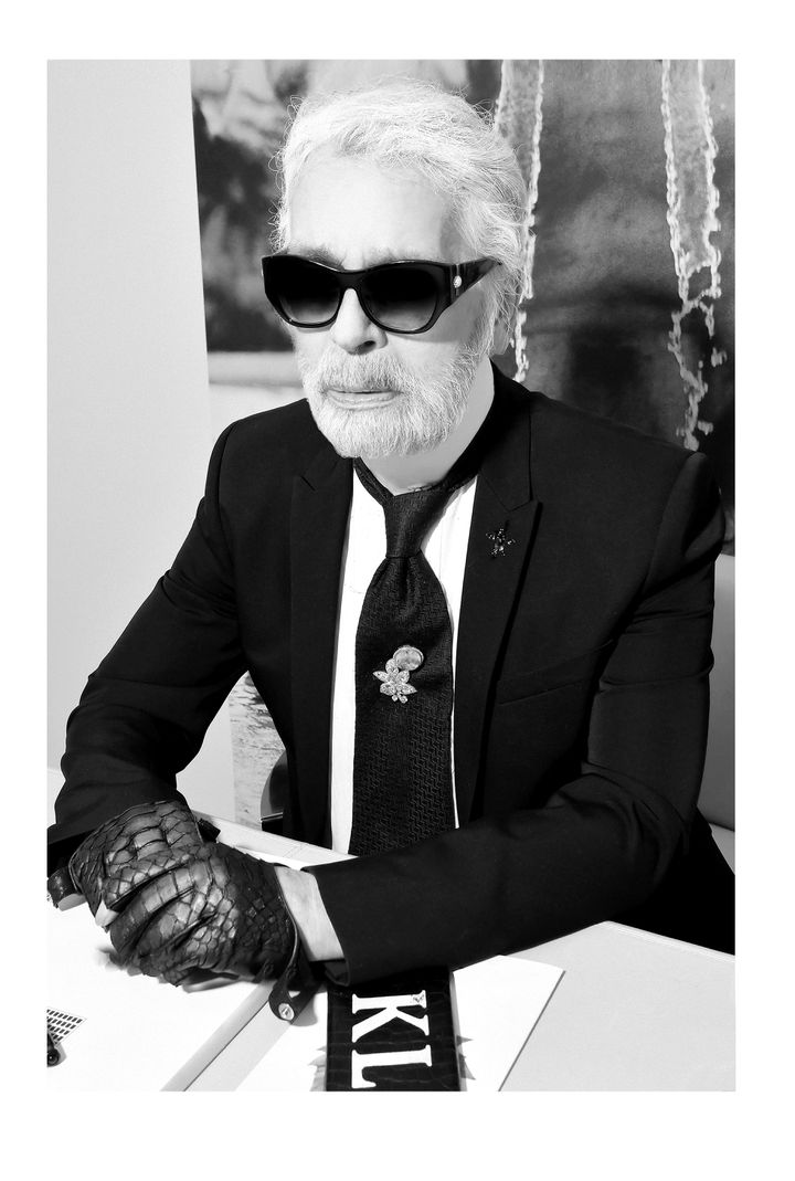 Le couturier Karl Lagerfeld en 2018 (STEPHANE FEUGERE)