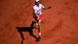 Novak Djokovic en finale de Roland-Garros, le 13 juin 2021. (MARTIN BUREAU / AFP)