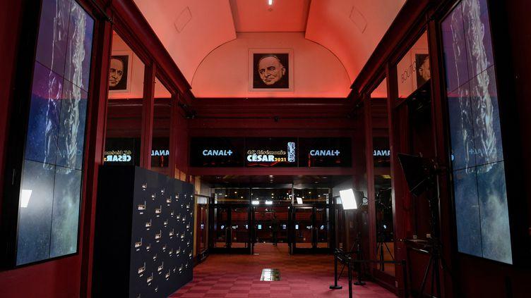 Le hall de l'Olympia à Paris (12 mars 2021) (PASCAL LE SEGRETAIN / POOL)